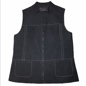 Vintage 90's Stitched Women's Zip Vest Size Small